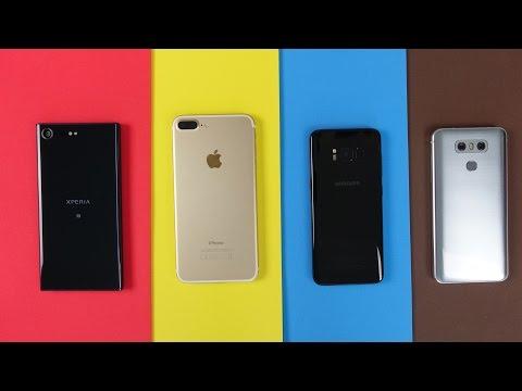 Sony Xperia XZ Premium vs Galaxy S8, iPhone 7 Plus, LG G6 - Benchmarks + Speedtest