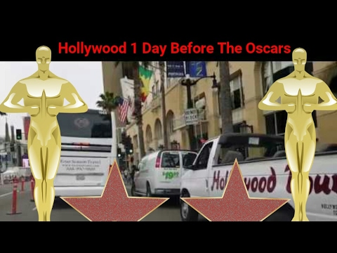 Los Angeles Driving Tour: Hollywood 1 Day Before The Oscars 2017 Academy Award.