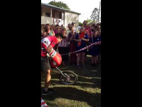 DARREN OBAH GETS PUNCHED BY A GUY ON A UNICYCLE! .... (for A Good Cause, Of Course!)