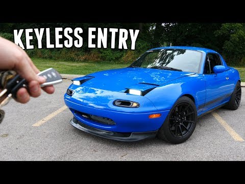 How to install a KEYLESS ENTRY System in a Miata!