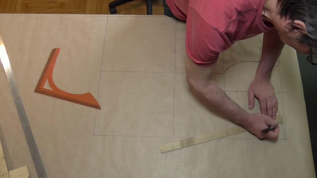 """Копия видео """"построение конструкции мужской сорочки на бумаге ( лекала )"""""""