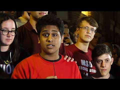 Marjory Stoneman Douglas High School Students Arrive in Tallahassee