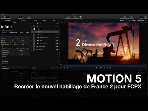 MOTION 5: Recréer le nouvel habillage de France 2 pour FCPX