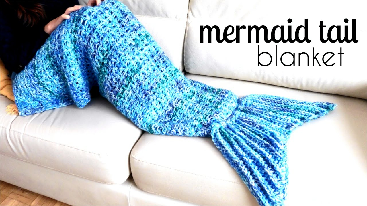 How to crochet a MERMAID TAIL BLANKET ? CROCHET LOVERS - YouTube