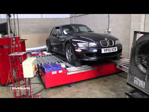 Dyno video of Z3M S54 with Evolve Carbon Airbox CSL - YouTube