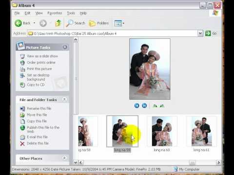 Photoshop CS2 - Phần 6 - Bài 2 - Chọn ảnh cưới