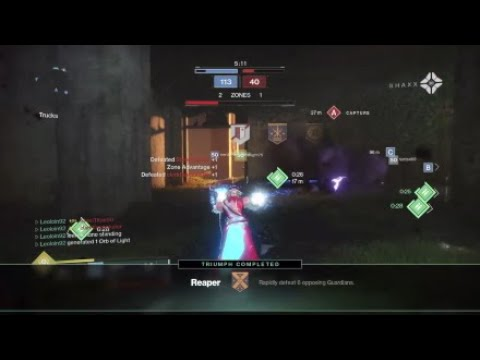 (Destiny 2) Getting a reaper with a warlock