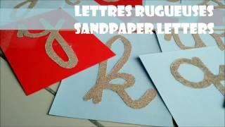 DIY | 🔠 Fabriquer les lettres rugueuses de MONTESSORI | How to make Sandletters MONTESSORI