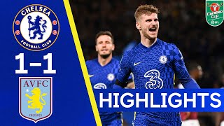 Chelsea 1-1 Aston Villa | Penalty Thriller At The Bridge After Headed Werner Finish! | Highlights