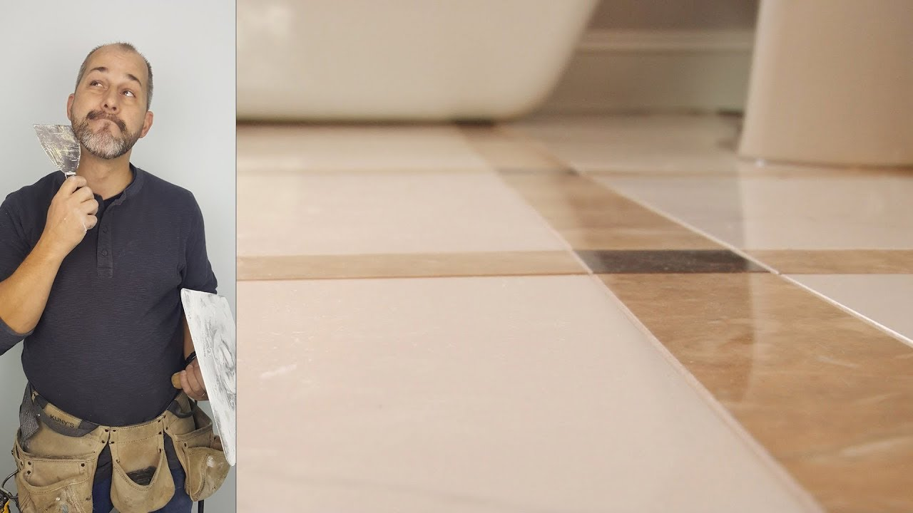 How to Install a Rectified Porcelain Tile Floor  YouTube