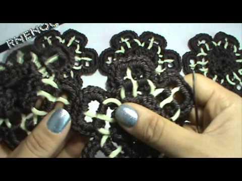 3 de 8 como tejer bolsa de flores arillos y ganchillo - Como hacer flores de ganchillo ...