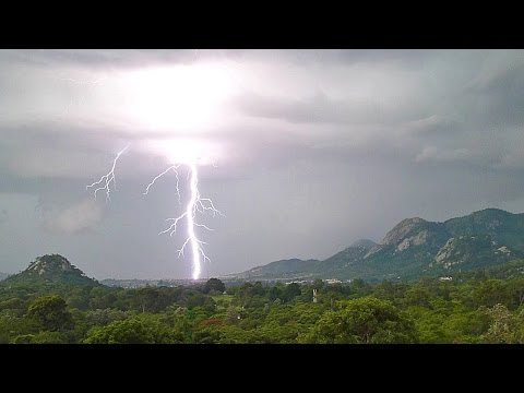 Time Lapse of Twenty Lightning Strikes, Mutare, Zimbabwe