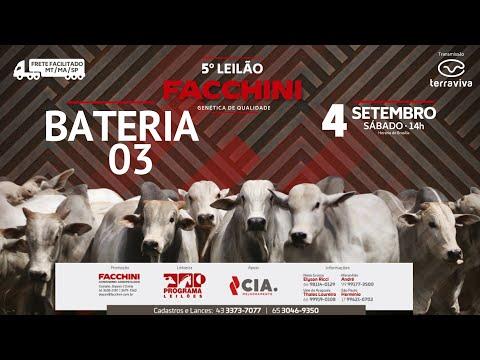 BATERIA 03 - 5º LEILÃO FACCHINI 04/09/2021