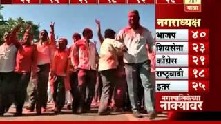 Nashik : Nagar Palika Election Result : Shivsena with maximum seats
