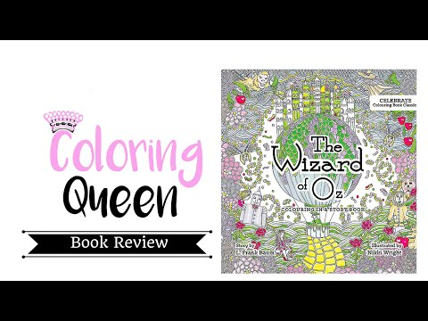 Wizard of Oz Adult Coloring Book   illustrated by Nikki Wright