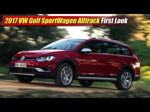 2017 Volkswagen Golf SportWagen Alltrack First Look