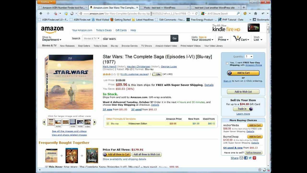 how to get asin number from amazon