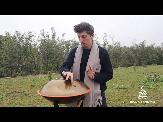 Our Generation 7 Handpan in D Kurd Minor in Gold | Handpans | Novapans Handpans