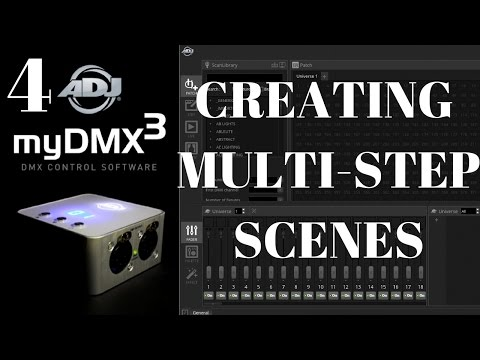 ADJ myDMX 3: Creating Multi Step Scenes