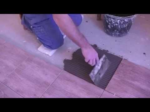 видео: Укладка плитки на пол