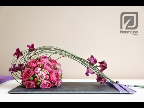 How To Make Flower Arrangements how to make a flower arrangement with roses tutorial - youtube