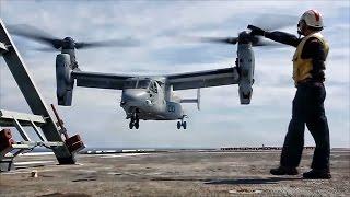 U.S. MV-22 Osprey Lands On Spanish Warship