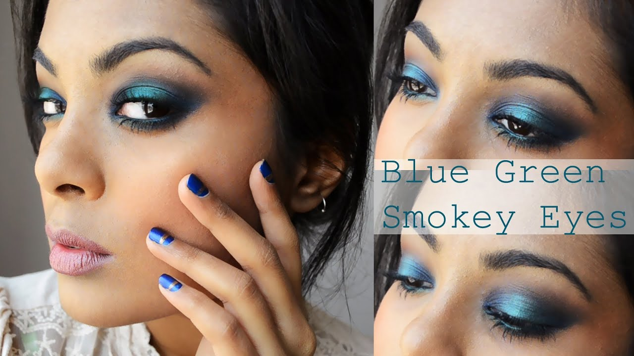 "peacock blue green smokey eyes makeup tutorial (beyonce ""mine"" video inspired)"