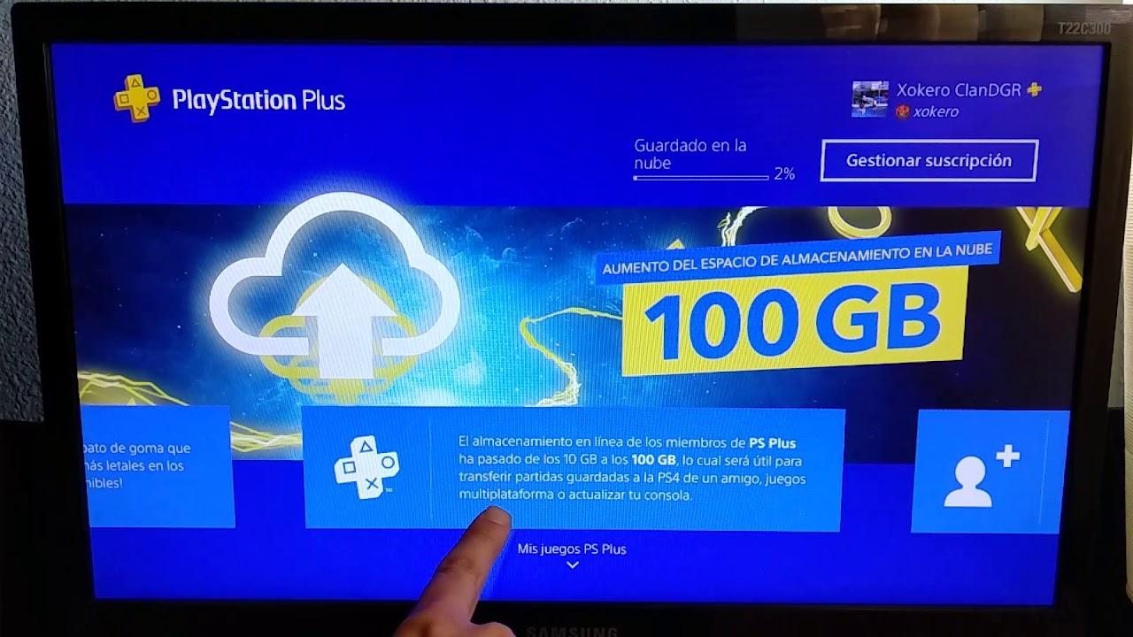 NOTICIÓN Juego Multiplataforma en PS4 y 100 GB en la nube de ...