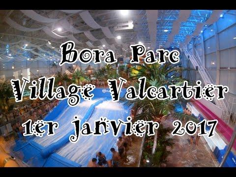 Bora parc village valcartier 1er janvier 2017 youtube for Glissade interieur