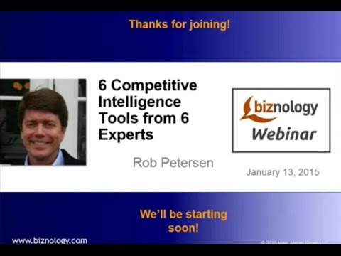 6 Competitive Intelligence Tools from 6 Experts