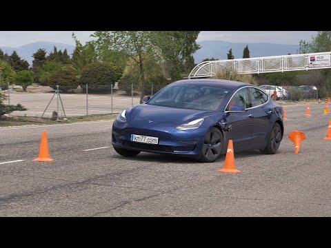 Tesla Model 3 showcases its handling and stability by acing the 'Moose Test'
