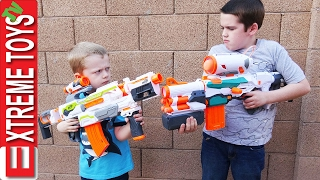One of ExtremeToys TV's most viewed videos: The Nerf Modulus Battle! Ethan Attacks Cole with his Nerf Modulus Tri Strike!