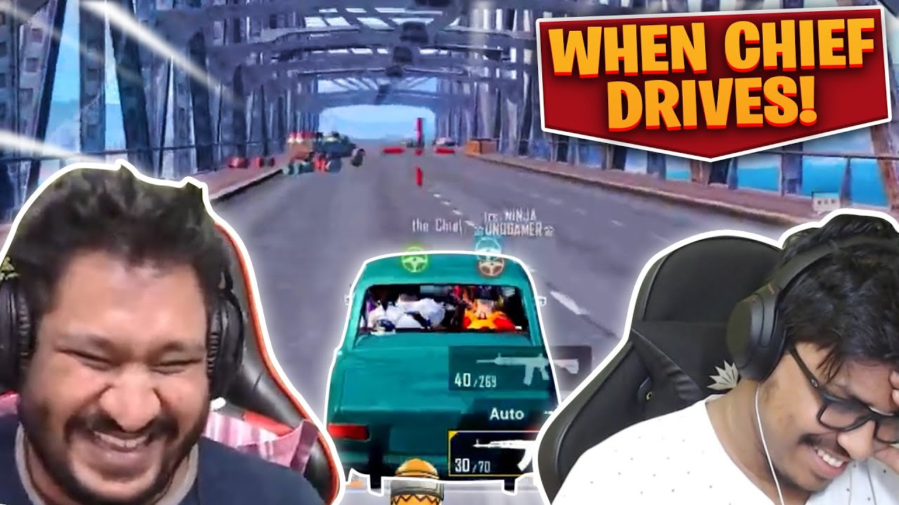When @the Chief Drives Car! 😲| Ruthless gaming