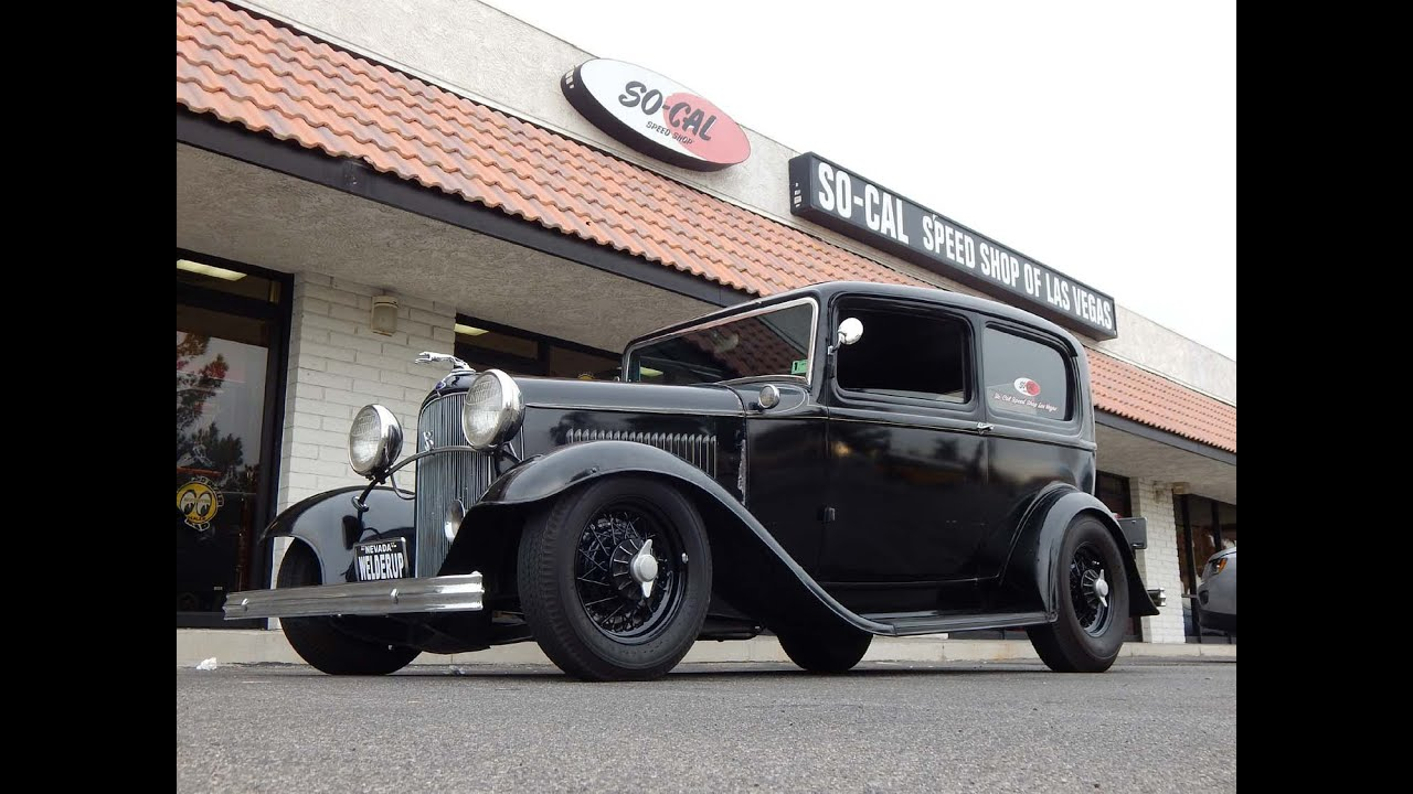 1932 Ford Tudor Sedan So-Cal Las Vegas Rat Rod TV Car - YouTube