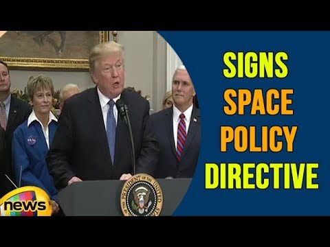 US President Trump Participates in a Signing Ceremony for Space Policy Directive | Mango News