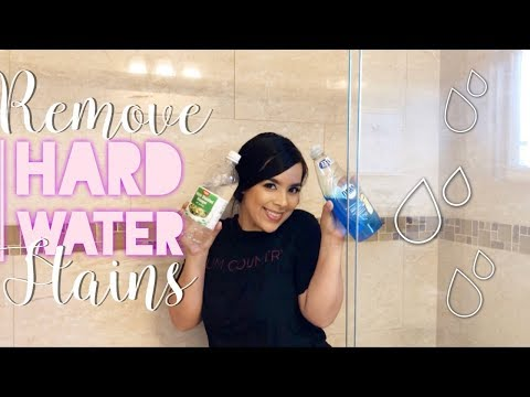 HOW TO REMOVE HARD WATER STAINS    SHOWER DOORS