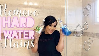 HOW TO REMOVE HARD WATER STAINS || SHOWER DOORS