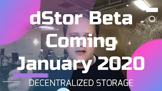 dStor Beta Coming in January - Decentralized Storage on Telos