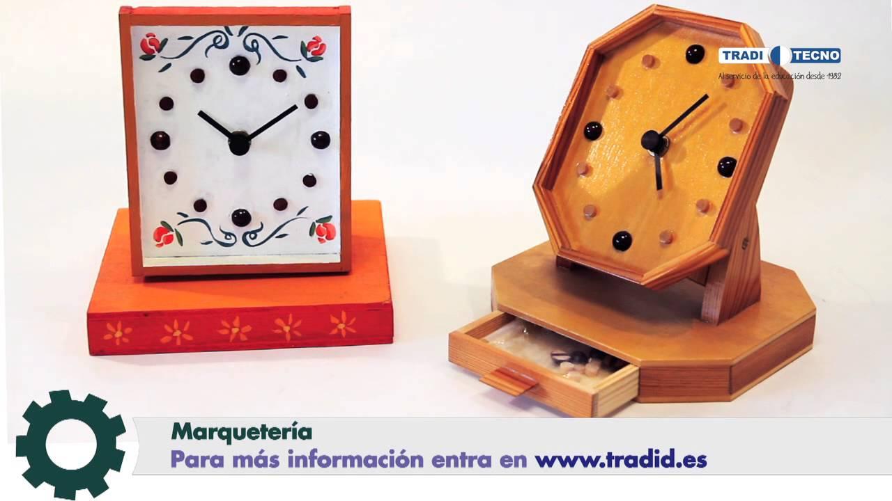 Proyectos de tecnolog a construye tu reloj sobremesa de - Proyectos de madera ...