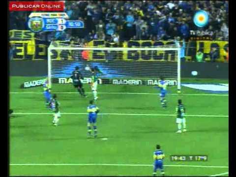 El gol de Boca 1 San Martin de San Juan 0