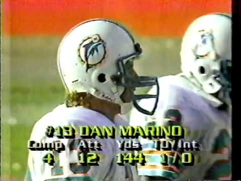 1984 Wk 04 Miami Beats Indy 44-7, Highlights With Radio Call