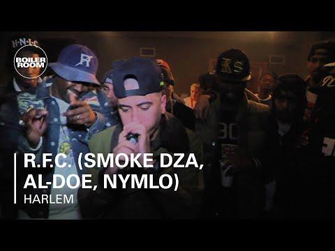 R.F.C. (Smoke DZA, Al-doe, NymLo) Cypher - Boiler Room Rap Life Harlem