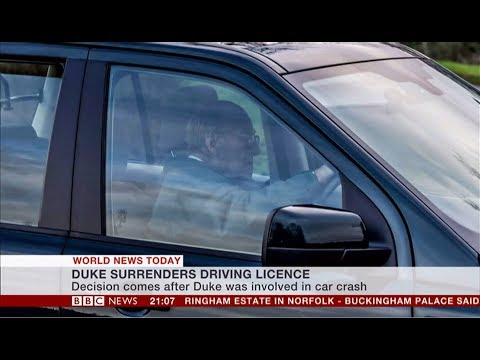 Prince Philip gives up driving licence (UK) - BBC News - 9th February 2019