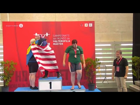 SATURDAYS 11:30 S44 W35 2018 IWF MASTERS WORLD WEIGHTLIFTING CHAMPIONSHIP