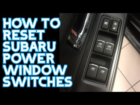 How To Fix Passenger Side Window Switch And Auto Windows In A Subaru