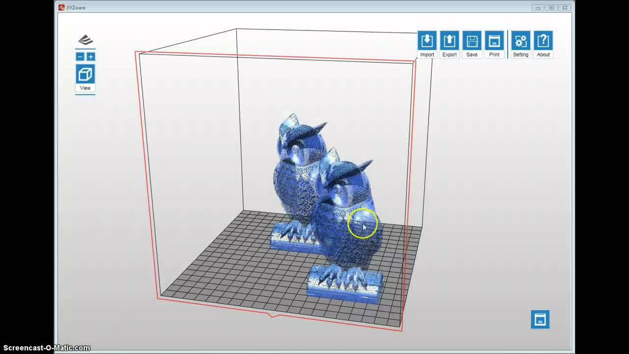 XYZWARE Software Tutorial for Da Vinci 3D Printer