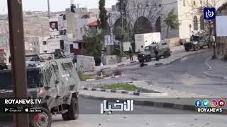 قوات الاحتلال تقمع مسيرة تشييع الشهيد حمزة زماعرة في الخليل