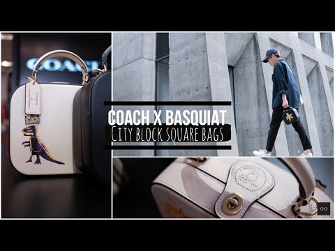 COACH X Basquiat: City Block Square Bags