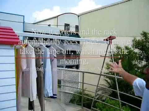 solar power energy automatic clothes rack