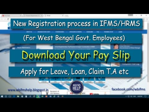 Guideline For New Registration In WBIFMS, HRMS Portal- For West Bengal Govt Employees